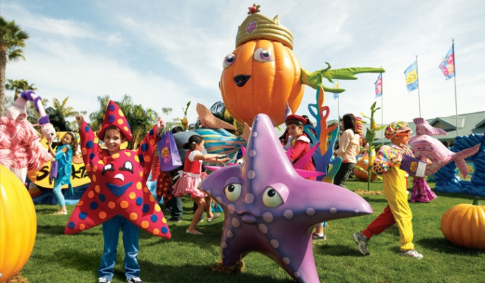 Halloween in Sea World Orlando erleben.